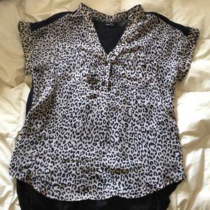 Cheetah Print, Button Up, Collard Shirt